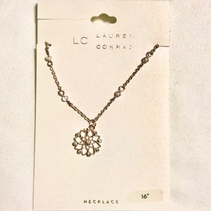 LC Lauren Conrad Star Flower Beaded Necklace